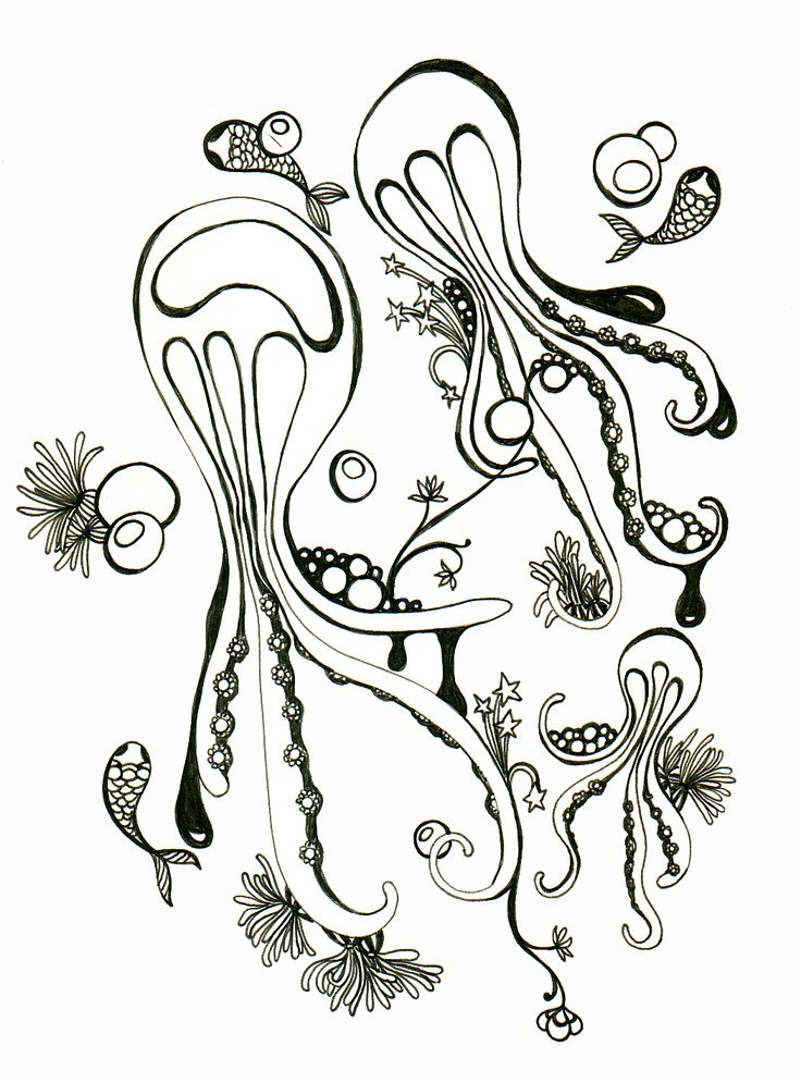 Drawing octopus Blackpen© cherchelicorne