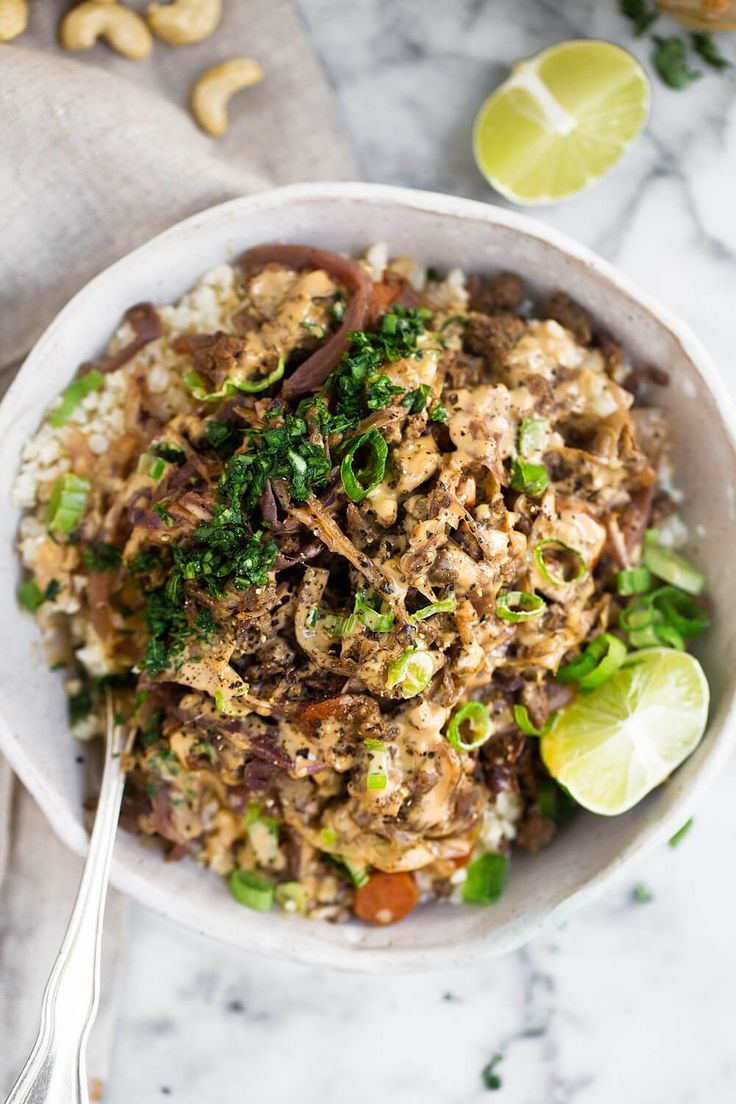 Whole30 Egg Roll in a Bowl. The most delicious one pan meal: egg roll in a bowl loaded up with plenty of cabbage, protein