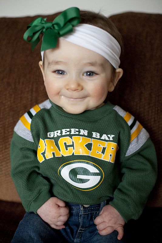 go pack go - how cute is this kid? (no idea who it is, but so cute!) I think Haley could totally rock this Packers look!!!
