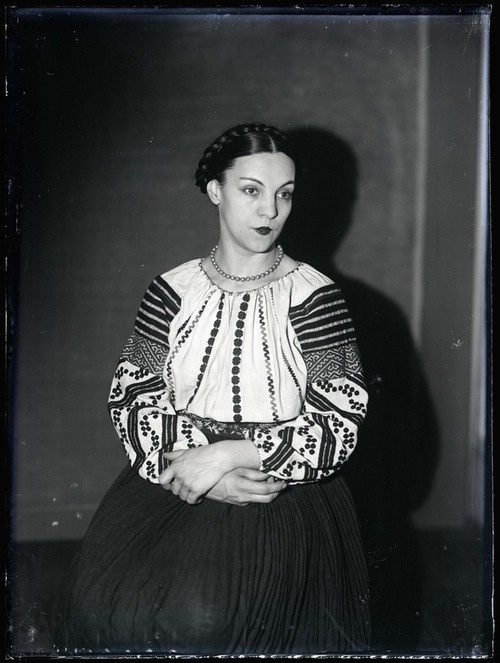 Remarkable blouse and traditional braids. Genica Athanasiou, 1925  by Man Ray