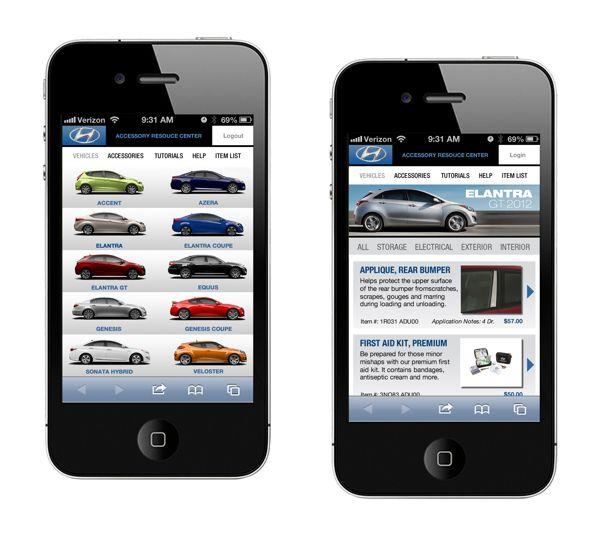 Hyundai ARC Mobile Site