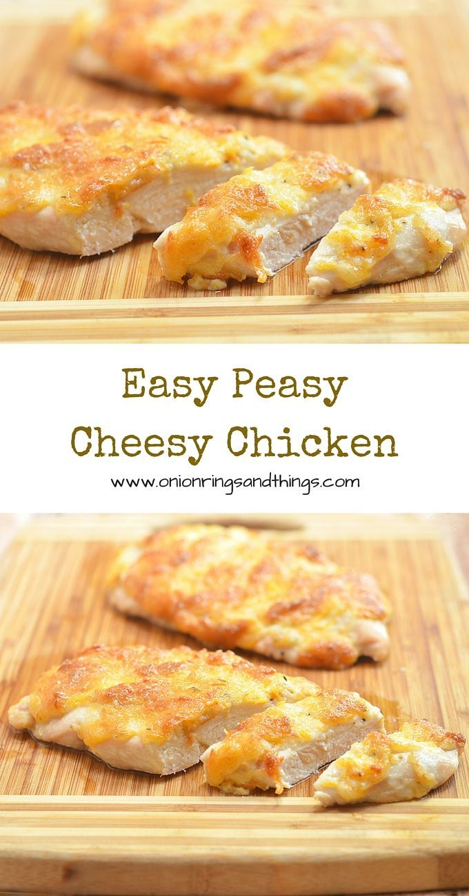 The simple trick to super moist baked chicken? Mayo! With melt-in-your-mouth tender chicken and a golden, creamy crust, this Easy Peasy Cheesy Chicken is sure to become a family favorite.