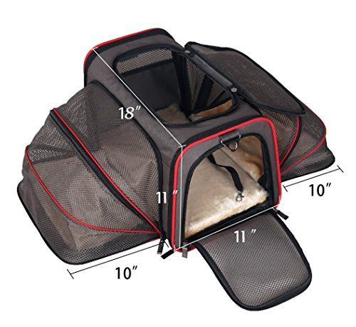 FINALLY INTRODUCING THE NEW EXPANDABLE PET CARRIER BY PET PEPPY WHICH ALLOWS A SPACIOUS COMFORTABLE SPACE FOR YOUR PET! Are you tired of the following? ► Weak unstable pet carriers which kinks up o...