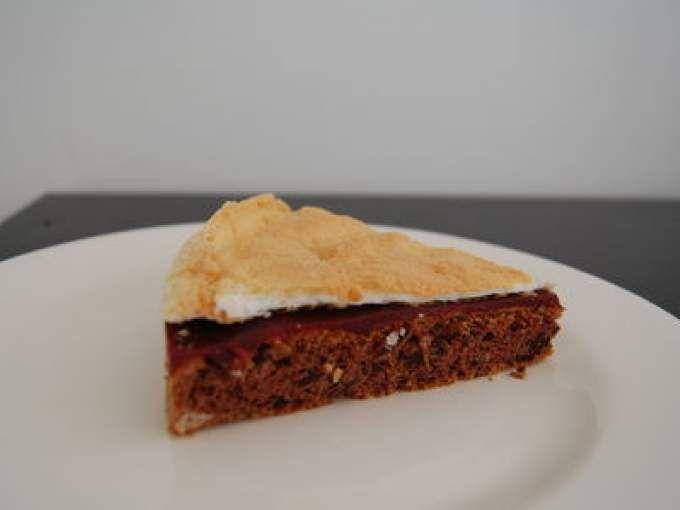 Il ne reste plus qu'à déguster! - Recette Dessert : Gateau chocolat-framboise-meringues pour à peine 2 points ww par La cuisine de Bibounette