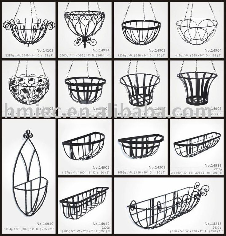 wrought iron hand froged flower hanging basket