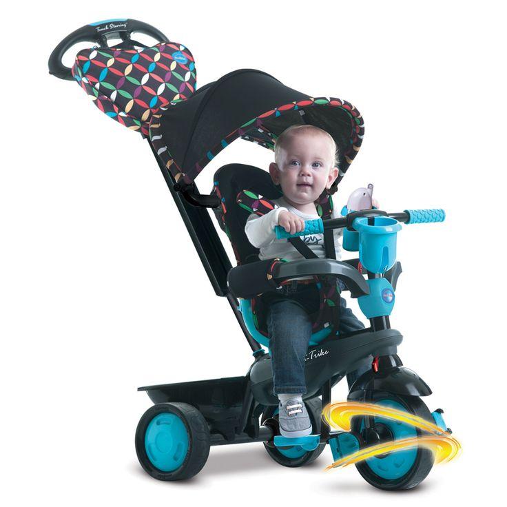 Výbornou vlastnosťou trojkolky smarTrike je patentovaná technológia Touch Steering pre jednoduchšie a ľahšie manévrovanie, ktoré umožňuje ovládanie trojkolky ako kočík. Trojkolka je kompromisom medzi kočíkom a detskou trojkolkou, zamilujete si ho vy i vaše dieťatko.