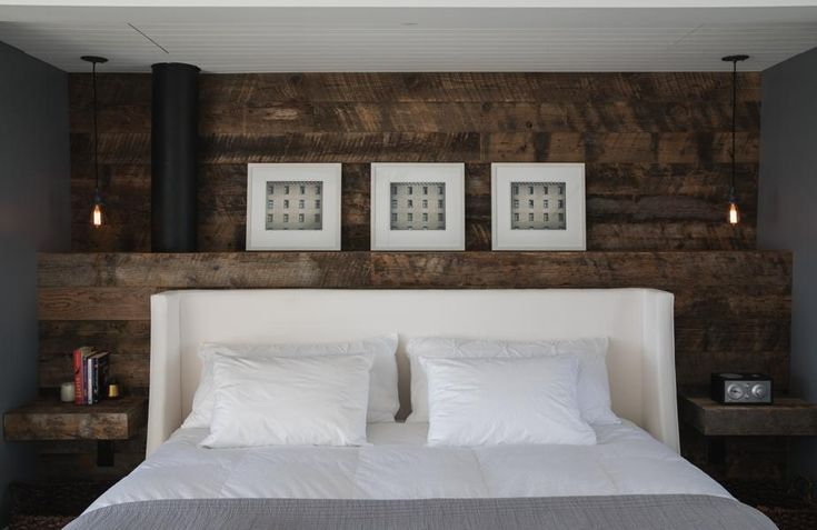 Custom reclaimed wood feature wall | Custom Furniture in Vancouver by Union Wood Co.