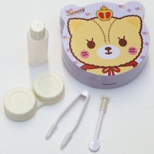 Sweety King Bear Contact-Lens Case Holder w/ Mirror & Accessories for Traveling