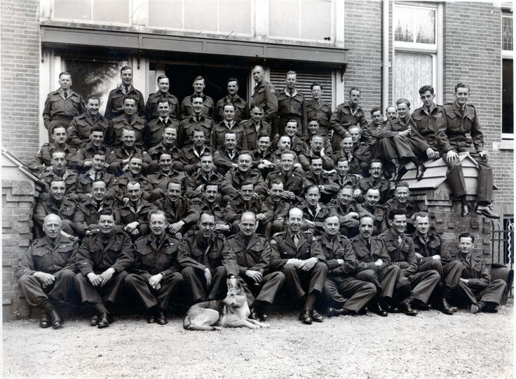 1945 Queen's Own Rifles of Canada Officers Dinner in AmersfoortHolland