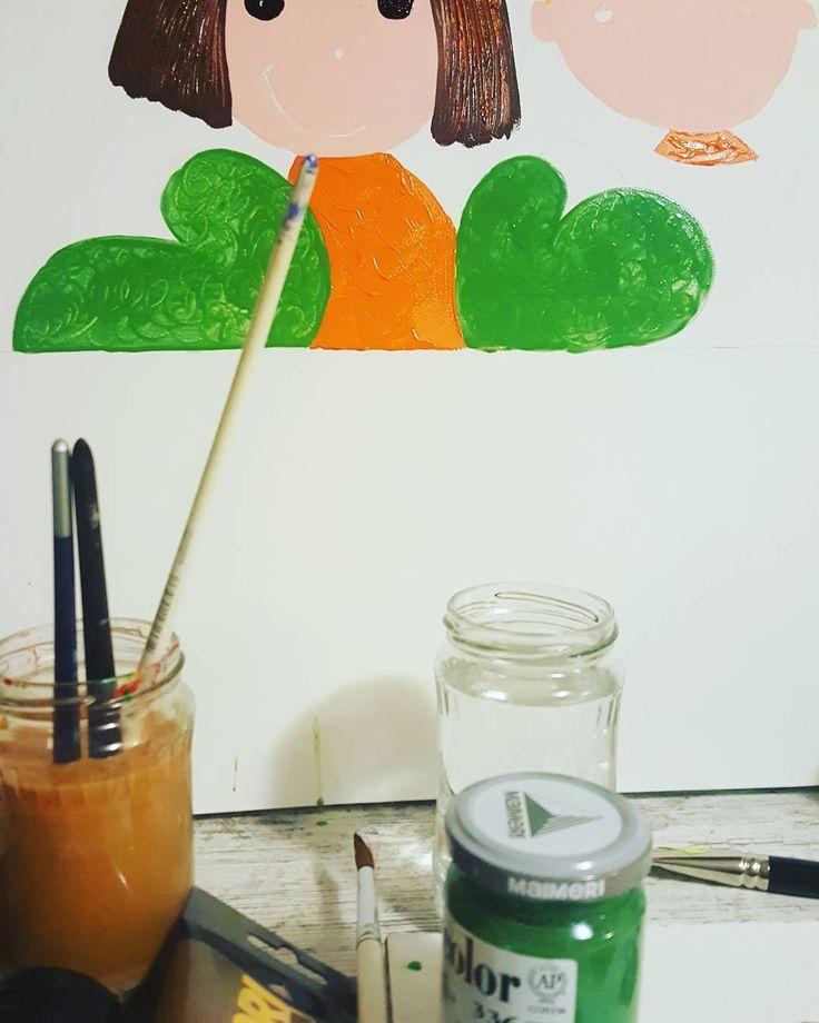 Work in progress #festivalulbrazilor #salvaticopiii #sustineducatia  http://ift.tt/2zOJb2F #children #education #painting #art #workinprogress