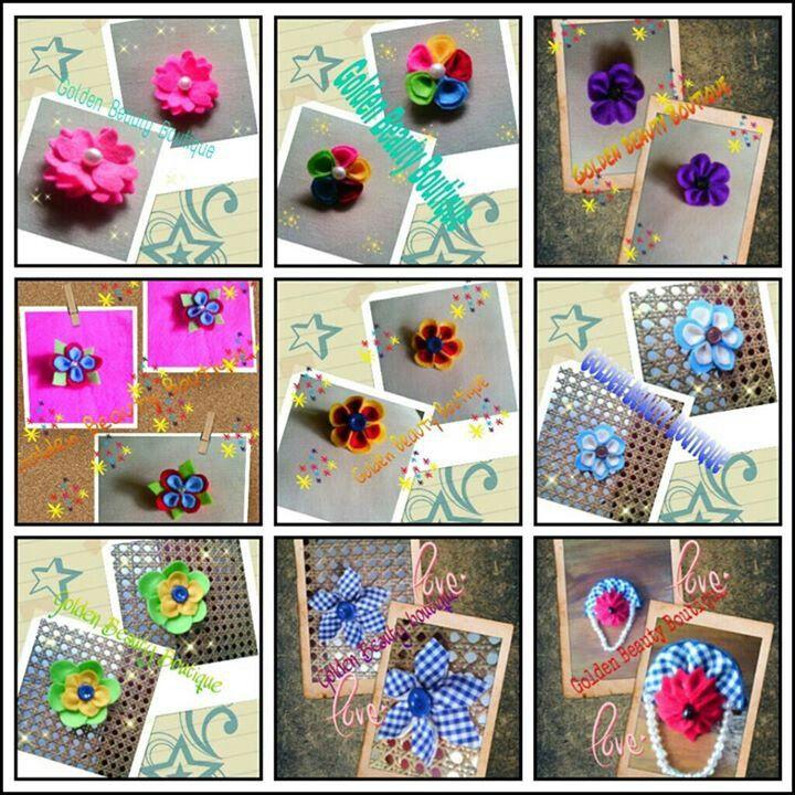 Idr.10/3 pcs , $1/ 3pcs brooch flower handmade open PO for souvenir wedding
