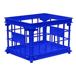 Office Depot Brand FilingStacking Crate 10 34 H x 13 45 W x 16 45 D Blue by Office Depot & OfficeMax
