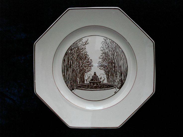 geo rouard assiette service versailles dessin par hermann paul exposition arts d coratifs. Black Bedroom Furniture Sets. Home Design Ideas