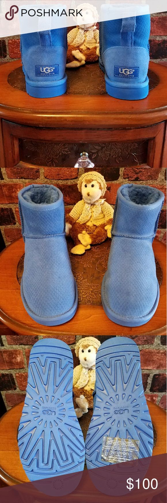 Women's Uggs NO BOX. New without box. Beautiful color blue🌸 Women's size 6 Uggs Shoes Ankle Boots & Booties