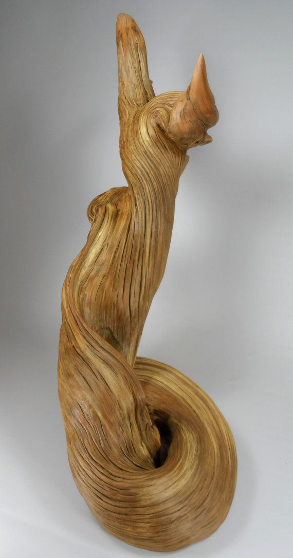 Natural Juniper Wood Sculpture van MontanaWildwoods op Etsy. ❤️