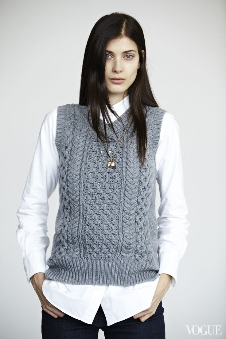 Authentic Irish open cardigan vest adds an extra layer of warmth in cooler weather. Made in Ireland, this cable knit sweater features two front pockets/5(18).