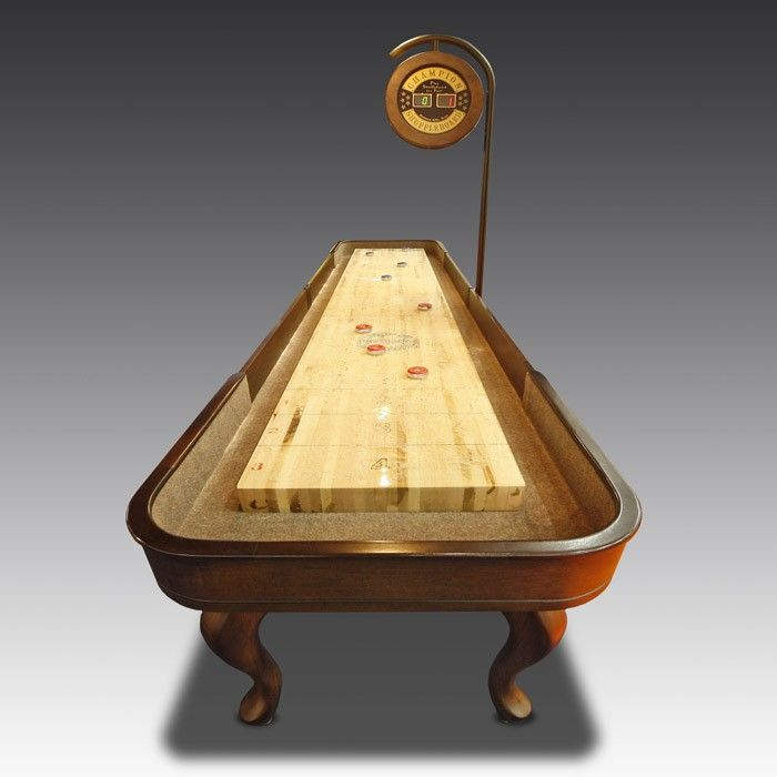 The American-made Madison is one of the most attractive variants of Shuffleboard tables available, constructed from maple wood with a unique twist.