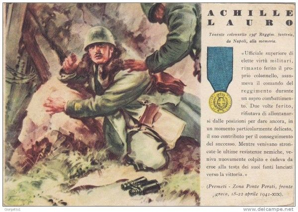 Lt Col Achille Lauro of the Bari Division