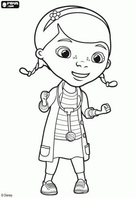 The doctor of the toys from Disney, Dottie coloring page