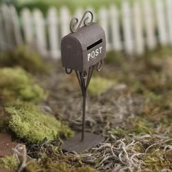 Fairy Mailbox with Mail Slot, Made of Painted Metal, Fariy, Gnome, and Doll Miniatures and Accessories, Fariy Garden Mailbox by FairyGardenMiniature on Etsy https://www.etsy.com/listing/400680165/fairy-mailbox-with-mail-slot-made-of