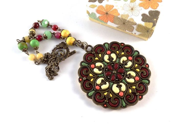 polymer clay, beads and metal