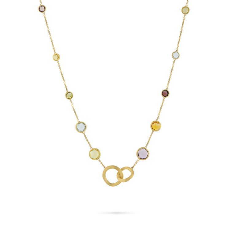 Marco Bicego Jaipur 18K Gold Mixed Semiprecious Stone Necklace, 17