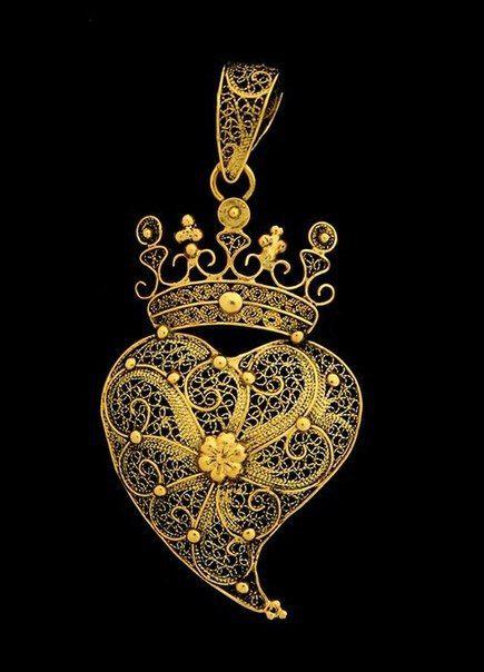 Этнические украшения. Португальская филигрань.(продолжение) Сердце Вианы (coração de Viana)