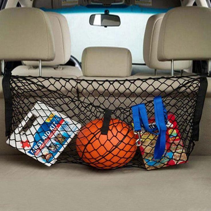 Baru Hitam Nylon Mobil Hatchback Bagasi Bagasi Net Ditambah Pemasangan Kualitas Hign