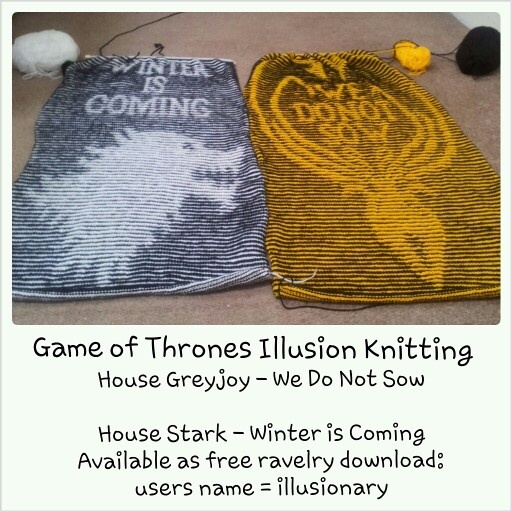 Crochet Patterns Game Of Thrones : My game of thrones illusion knitting patterns available on ravelry