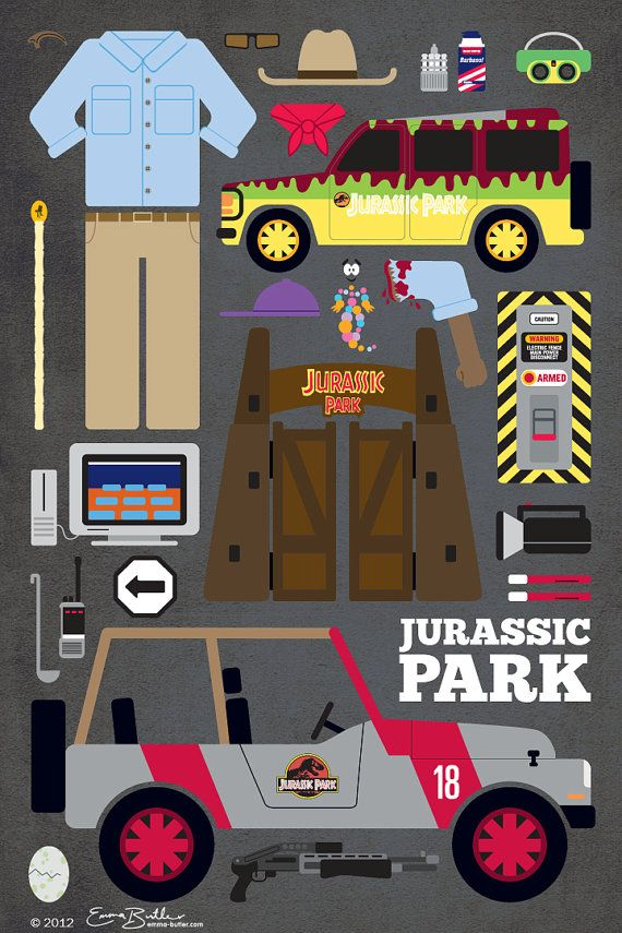 Hey, I found this really awesome Etsy listing at https://www.etsy.com/listing/157364239/jurassic-park-movie-parts-poster