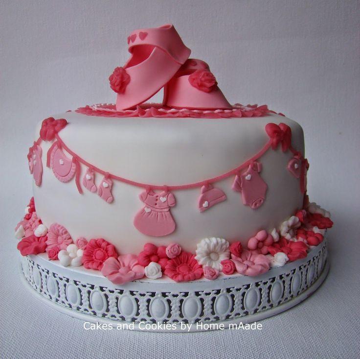 Geboorte taart voor een meisje