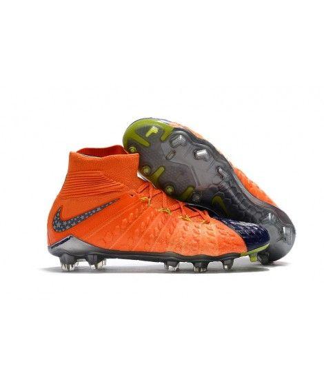 Nike Hypervenom Phantom III DF FG PEVNÝ POVRCH Oranžový Modrý Šedá Kopačky