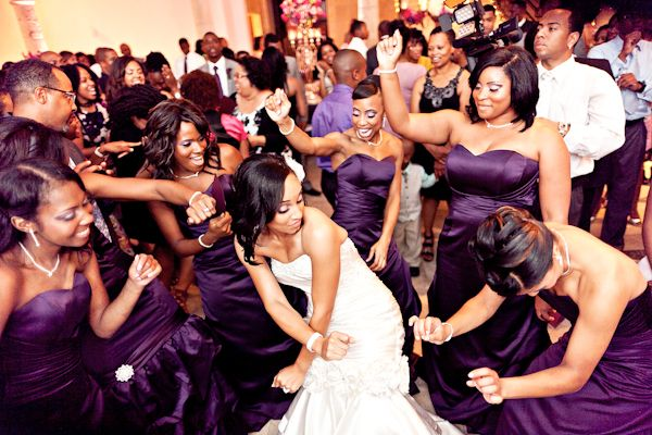 "unexpected songs to add to your ""Must Play"" list :)  and you gotta love the bride and bridesmaids dancing ;)"
