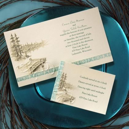 Off the Dock Wedding Invitations by Invitation Duck