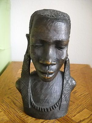 Details About Fine African Iron Wood Large Carved Woman