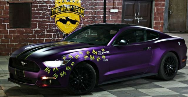 Customized Ford Mustang Joker Edition From India Is Dark Knight