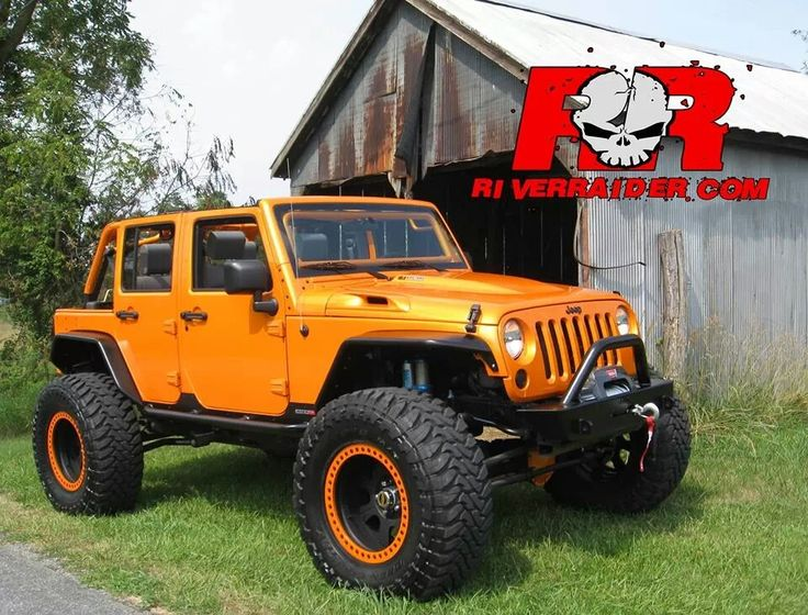 Orange Jeep Jk With Matching Beadlocks Hot Wheels
