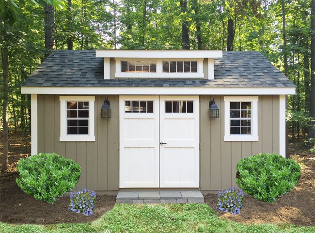 Our New Amish Built Storage Shed Promises To Solve Our Garage  Disorganization And Our Backyard