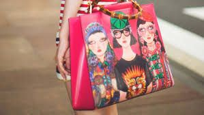 $3,700.00 GUCCI - Gucci Unskilled Worker Nymphaea bag - SOLD by GUCCI - affiliate - Helen Downie is a London-based self-taught artist, whose Instagram account, Unskilled Worker, caught the eye of Gucci's Creative Director Alessandro Michele. The colorful portraits, inspired by the Gucci runway, capture the spirit of the subject through a wide-eyed innocence which defines Unskilled Worker's artistic style.  made in Italy.