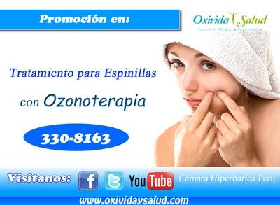 Tratamiento con ozonoterapia para ESPINILLAS. CÁMARA HIPERBÁRICA PERÚ  http://awe.sm/n0nLX