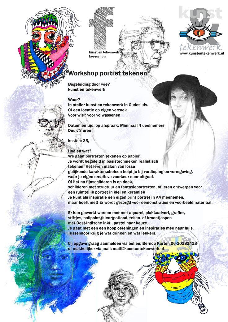 workshop portret tekenen voor volwassenen