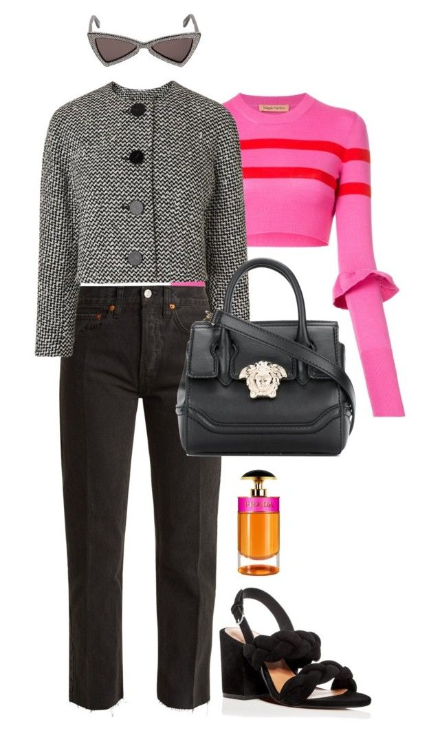 """""""Untitled #781"""" by szudi on Polyvore featuring Prada, Maggie Marilyn, RE/DONE, Yves Saint Laurent, Versace and Rebecca Minkoff"""