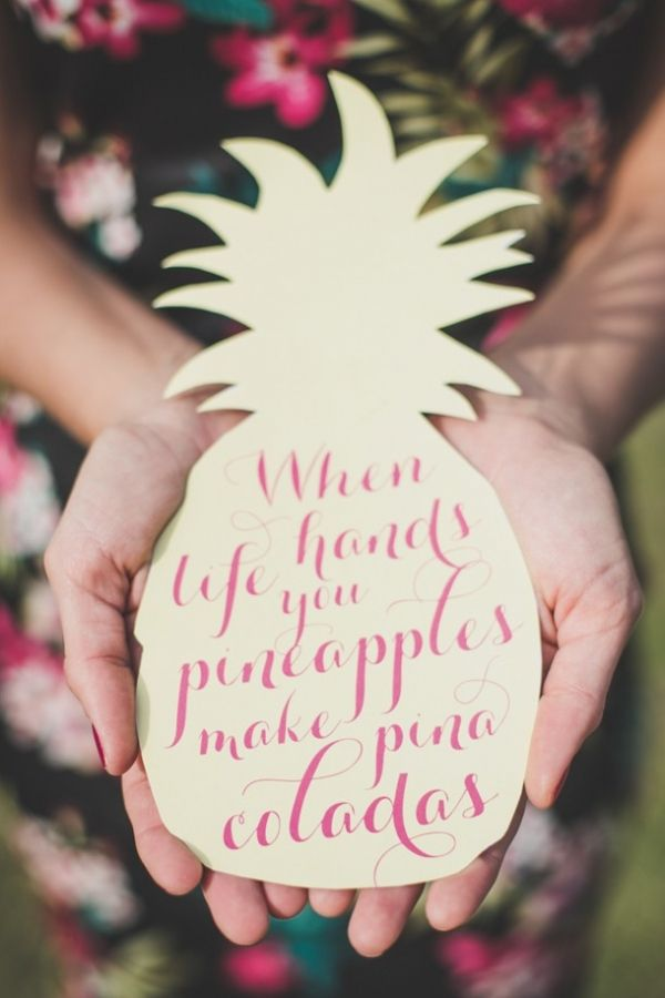 Tropical Pineapple Bridal Shower Signage | The Shank Tank Photography on @SouthBoundBride via @aislesociety