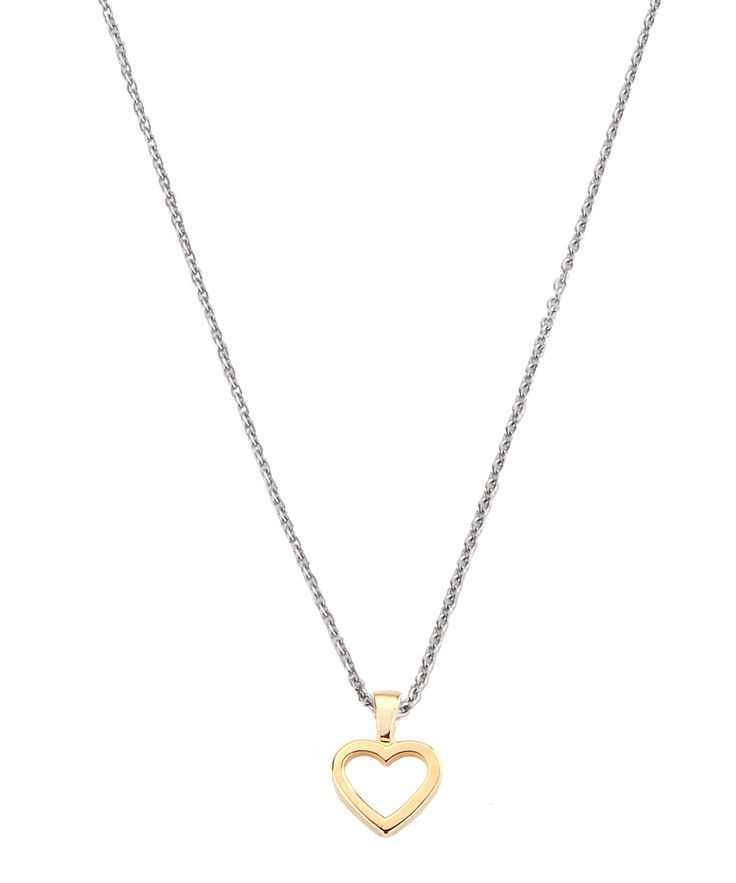 Necklace Open Heart goldpl. 42/45cm