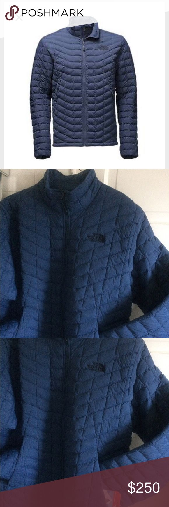 The Northface Men's Jacket This is a brand new men's North face thrmbal jacket . The size is large and the color is blue. This jacket is thin, but warm. Nice and durable. The North Face Jackets & Coats Utility Jackets