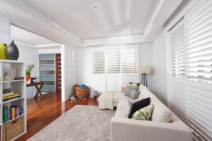 Luxaflex PolySatin Shutters are made to resist the harsh, bleaching UV rays of Australian summers and the cooler winters of the southern states. The PolySatin finish will look as luxurious as the day the shutters were installed, for years to come. They are guaranteed to not blister, peel, flake, corrode or fade. #luxaflexaus #luxaflexpolysatinshutters #polysatinshutters #shutters #luxaflexnewyearsale #homedecor #windowcoverings #windowfashions
