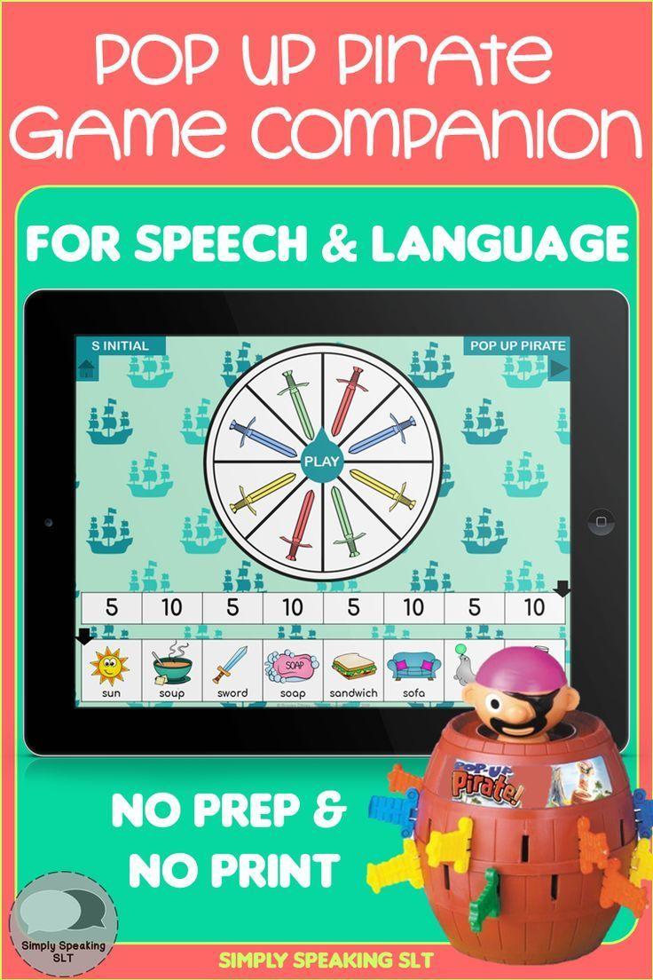 Pop Up Pirate Game Companion for Speech and Language - No Print & No Prep