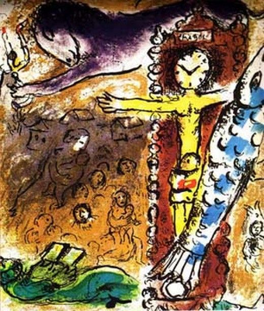 Marc Chagall (1887-1985) Russian/French Christ in the ... Chagall Crucifixion In Yellow