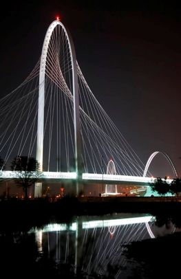 The Three Santiago Calatrava Bridges, Reggio Emilia, Italy.  The three bridges were inaugurated in late 2007.  Valencian engineer and architect Santiago Calatrava was distinguished with the European Steel Design Award for his three bridges.