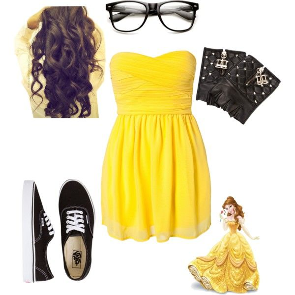 mackenzies hipster disney outfit belle glasses and dress for cinderella - Hipster Halloween Ideas